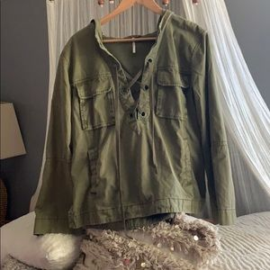 Free People army pull over jacket